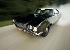 Laying rubber in a 1972 Buick Skylark