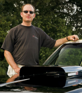 Gary Steele and the thirsty hood scoop of his 1972 Buick Skylark