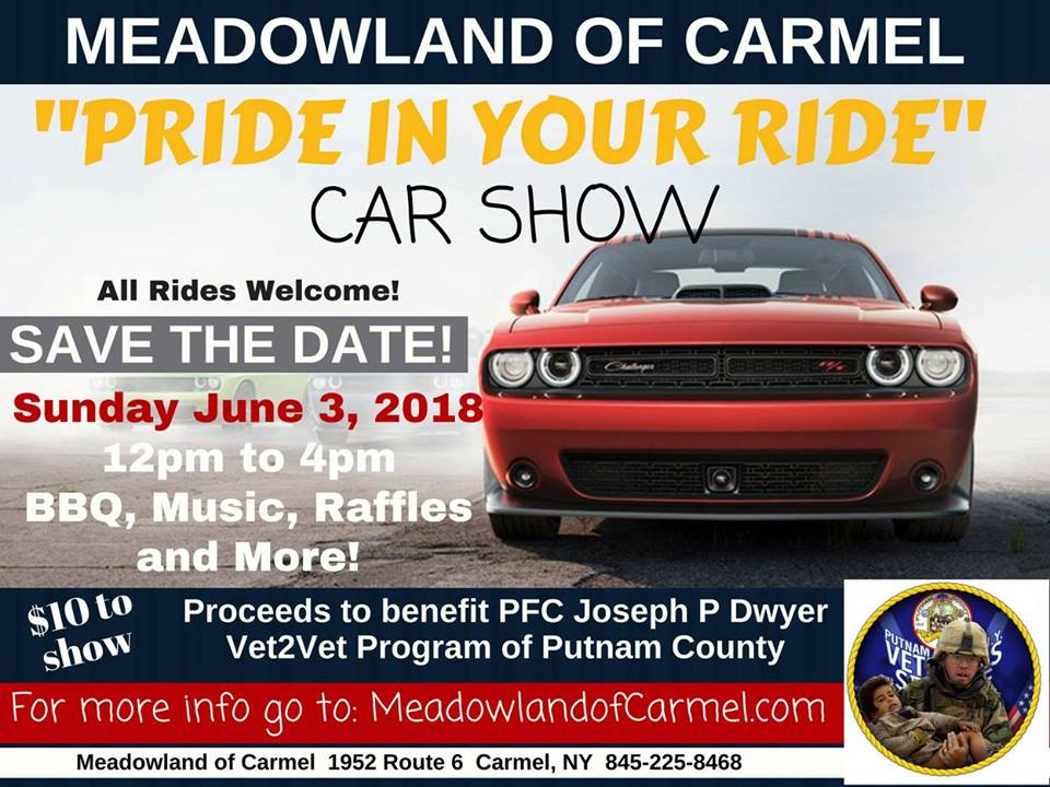Meadowlands Of Carmel >> Car Show Pride In Your Ride Car Show At Meadowlands Of